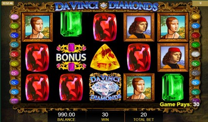 DaVinci Diamonds Slot screenshot 2